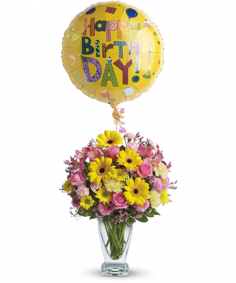 Celebrating a loved ones birthday with unique floral gifts happy birthday mylar balloon a3 dhlflorist Choice Image
